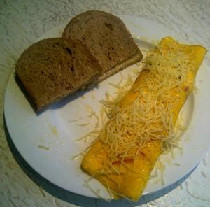 Omelet met boerenbrood