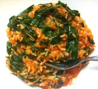 griekse rijst met spinazie