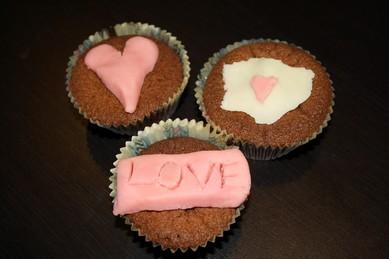 Decoratie chocolade cupcakes
