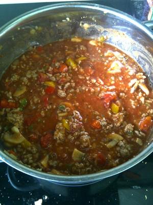spaghetti saus