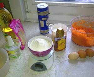 Ingrediënten wortelcake