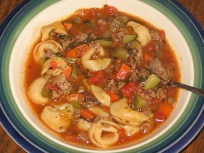 Italiaanse worst soep