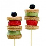 Fruit lollies met poffertjes
