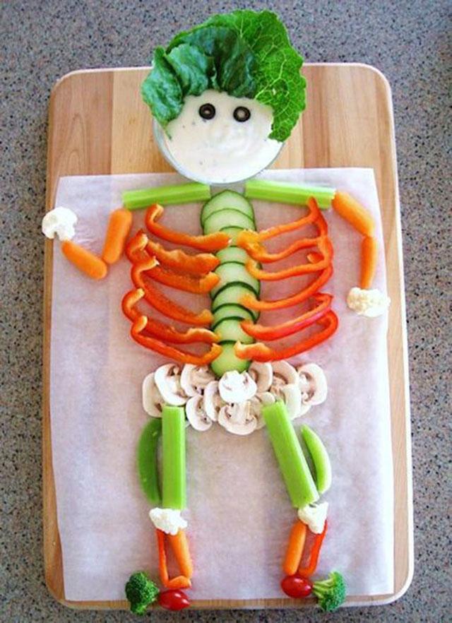 vegetarisch skelet