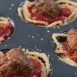 Spaghetti vleesbal muffin