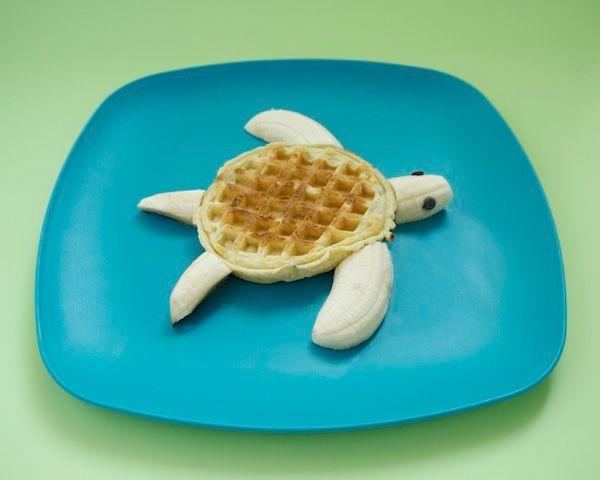Schildpad banaan