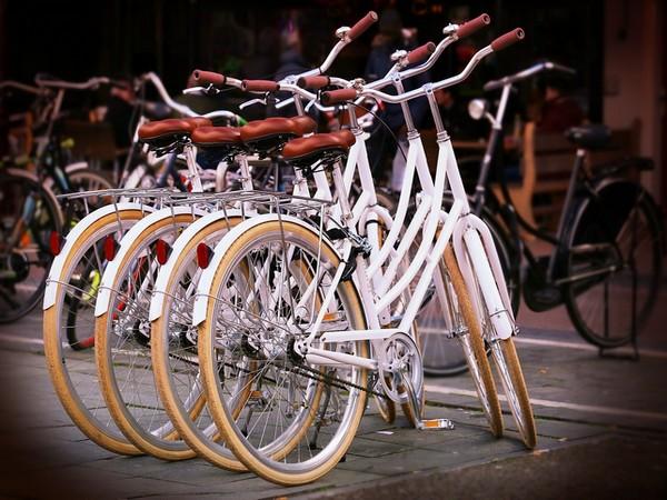 eerst keer met de fiets